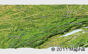 Satellite Panoramic Map of Doubs