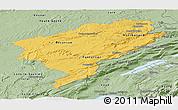 Savanna Style Panoramic Map of Doubs