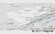Silver Style Panoramic Map of Doubs