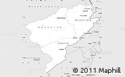 Silver Style Simple Map of Doubs