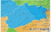 Political Shades 3D Map of Haute-Saône