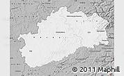 Gray Map of Haute-Saône