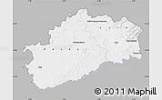 Gray Map of Haute-Saône, single color outside