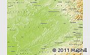 Physical Map of Haute-Saône