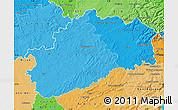 Political Shades Map of Haute-Saône