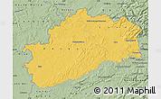 Savanna Style Map of Haute-Saône
