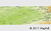 Physical Panoramic Map of Haute-Saône