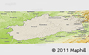 Shaded Relief Panoramic Map of Haute-Saône, physical outside