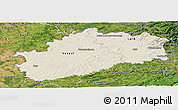 Shaded Relief Panoramic Map of Haute-Saône, satellite outside