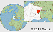 Savanna Style Location Map of Franche-Comté, highlighted country
