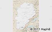 Classic Style Map of Franche-Comté