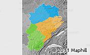 Political Map of Franche-Comté, desaturated