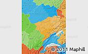 Political Map of Franche-Comté, political shades outside