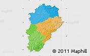 Political Map of Franche-Comté, single color outside