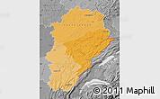 Political Shades Map of Franche-Comté, desaturated