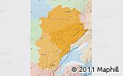 Political Shades Map of Franche-Comté, lighten