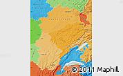 Political Shades Map of Franche-Comté