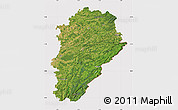 Satellite Map of Franche-Comté, cropped outside