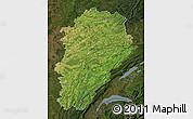 Satellite Map of Franche-Comté, darken