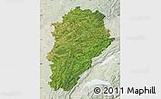 Satellite Map of Franche-Comté, lighten
