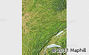 Satellite Map of Franche-Comté