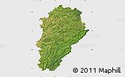 Satellite Map of Franche-Comté, single color outside