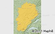 Savanna Style Map of Franche-Comté
