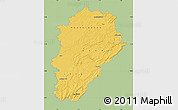 Savanna Style Map of Franche-Comté, single color outside