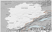 Gray Panoramic Map of Franche-Comté