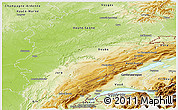 Physical Panoramic Map of Franche-Comté