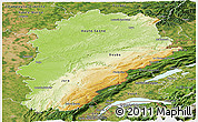 Physical Panoramic Map of Franche-Comté, satellite outside