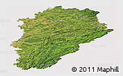 Satellite Panoramic Map of Franche-Comté, cropped outside