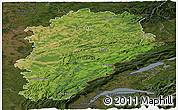 Satellite Panoramic Map of Franche-Comté, darken