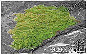 Satellite Panoramic Map of Franche-Comté, desaturated