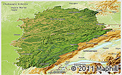 Satellite Panoramic Map of Franche-Comté, physical outside