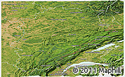 Satellite Panoramic Map of Franche-Comté