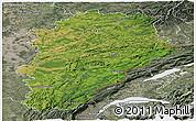 Satellite Panoramic Map of Franche-Comté, semi-desaturated