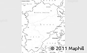 Blank Simple Map of Franche-Comté