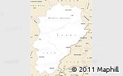 Classic Style Simple Map of Franche-Comté