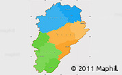 Political Simple Map of Franche-Comté, cropped outside