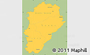 Savanna Style Simple Map of Franche-Comté, single color outside