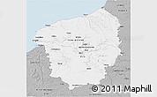 Gray 3D Map of Haute-Normandie