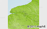 Physical 3D Map of Haute-Normandie