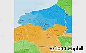 Political 3D Map of Haute-Normandie