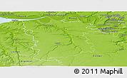 Physical Panoramic Map of Bernay