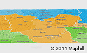 Political Shades Panoramic Map of Eure