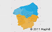 Political Map of Haute-Normandie, cropped outside