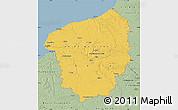 Savanna Style Map of Haute-Normandie