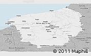 Gray Panoramic Map of Haute-Normandie