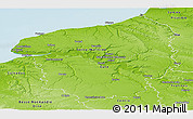 Physical Panoramic Map of Haute-Normandie